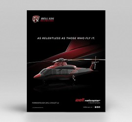 BELL 525 PRINT ADS & MICROSITE