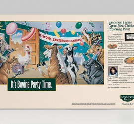 Sanderson Farms Print Ads
