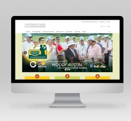 Sanderson Farms Championship Website & Social Media Design