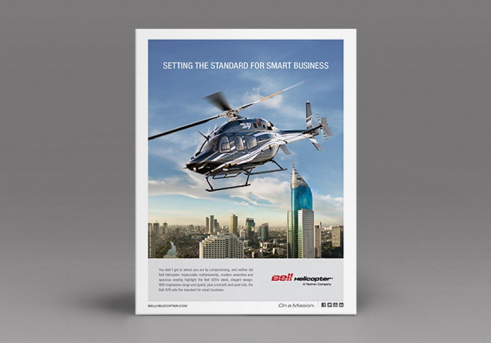 Bell Helicopter Print Ads