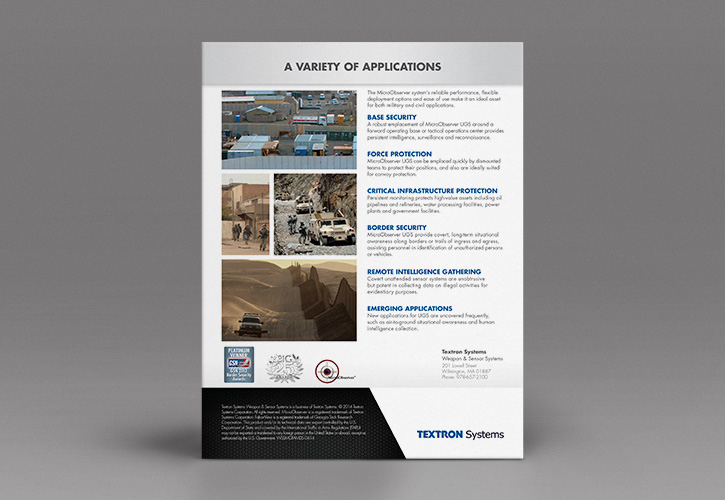 Textron Systems Micro Brochure Back