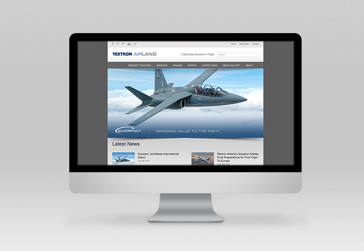 Textron Airland Scorpion Website