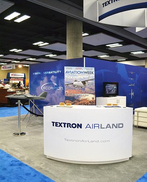 Textron Airland Scorpion Tradeshow Booth